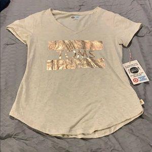 Short sleeve oatmeal colored shirt